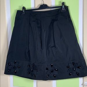 DKNY TAFFETA A LINE BLACK SKIRT SZ 8 black EVENING